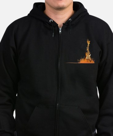 Hot Riffs Zip Hoodie (dark)