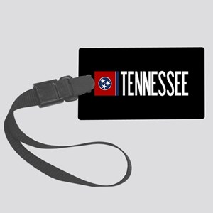 Tennessee: Tennessean Flag & Ten Large Luggage Tag