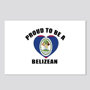 Belizean Patriotic Design Postcards (Package of 8)