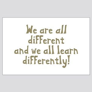 We're all Different Large Poster