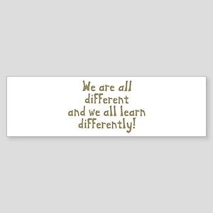 We're all Different Bumper Sticker
