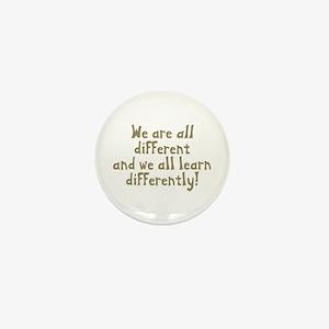 We're all Different Mini Button