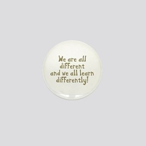 We're all Different Mini Button