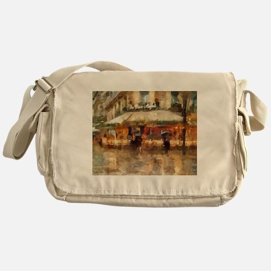 Cafe-de Paris Les deux magots Messenger Bag
