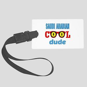 Saudi Arabian Cool Dude Large Luggage Tag
