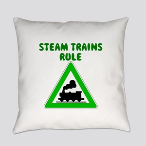 Steam Trains Rule Everyday Pillow