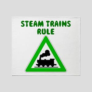 Steam Trains Rule Throw Blanket
