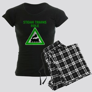 Steam Trains Rule Women's Dark Pajamas