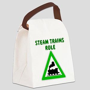Steam Trains Rule Canvas Lunch Bag