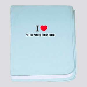 I Love TRANSFORMERS baby blanket
