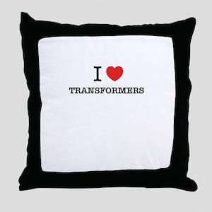 I Love TRANSFORMERS Throw Pillow