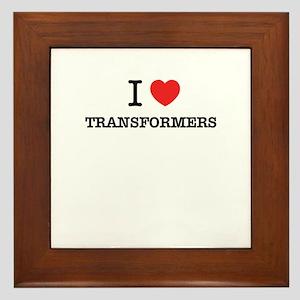 I Love TRANSFORMERS Framed Tile