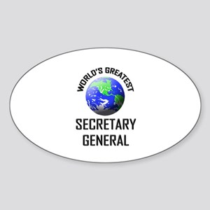World's Greatest SECRETARY GENERAL Oval Sticker