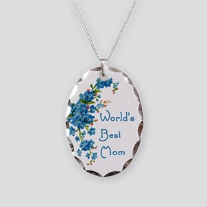 Worlds Best Mom Vintage Forge Necklace Oval Charm
