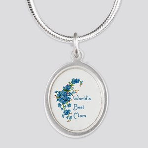 Worlds Best Mom Vintage Forget Me Not F Necklaces