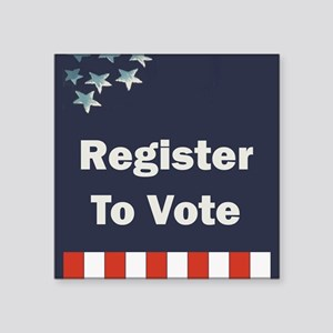 "Register to Vote Square Sticker 3"" x 3"""