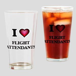 I love Flight Attendants Drinking Glass