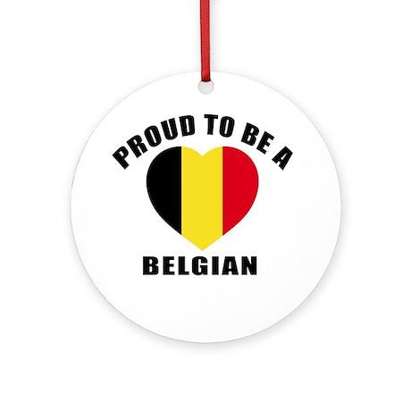 Belgian Patriotic Designs Round Ornament
