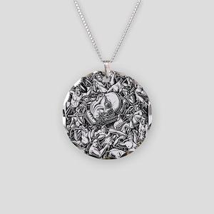 Michel Foucault head carried Necklace Circle Charm