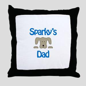 Sparky's Dad Throw Pillow