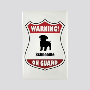 Schnoodle On Guard Rectangle Magnet