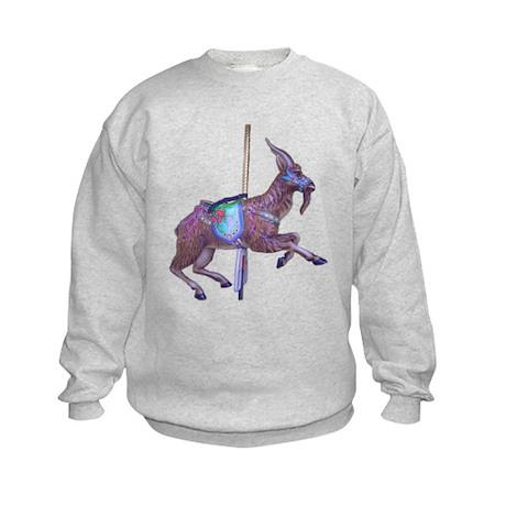 carousel goat Kids Sweatshirt