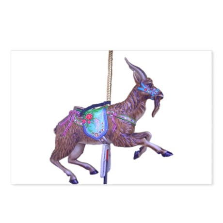 carousel goat Postcards (Package of 8)