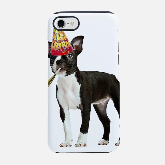 Boston Terrier Birthday iPhone 8/7 Tough Case