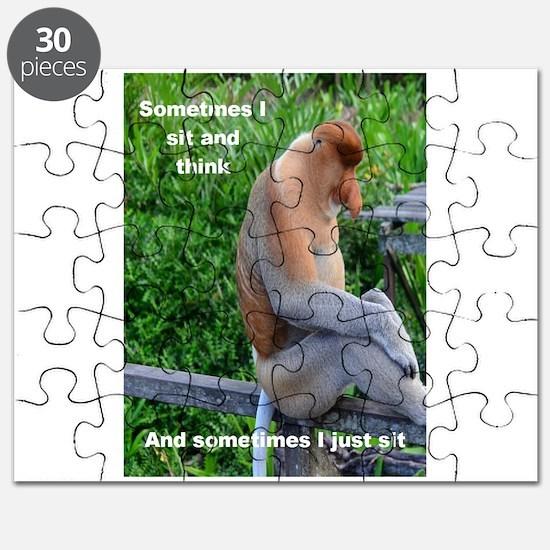 Probiscis Monkey Maybe Thinking Puzzle