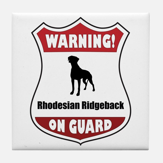 Ridgeback On Guard Tile Coaster