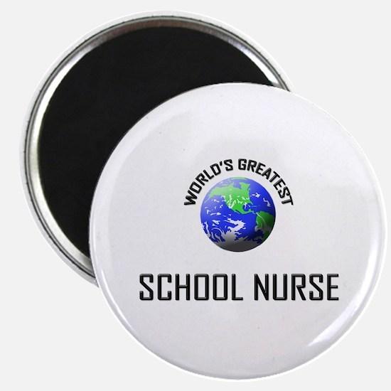 "World's Greatest SCHOOL NURSE 2.25"" Magnet (10 pac"