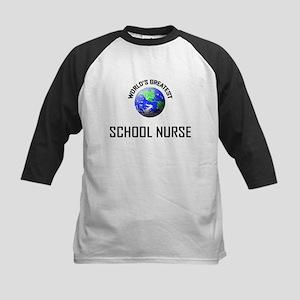 World's Greatest SCHOOL NURSE Kids Baseball Jersey