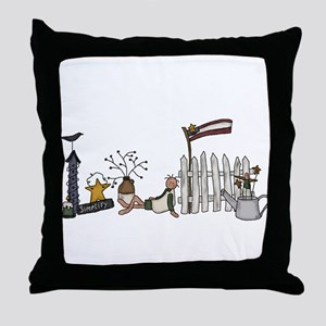 Prim Stuff Throw Pillow
