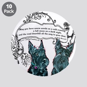 "Scottish Terrier Proverb 3.5"" Button (10 pack)"