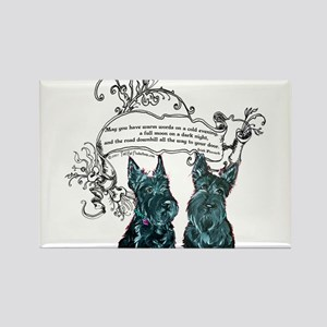 Scottish Terrier Proverb Rectangle Magnet