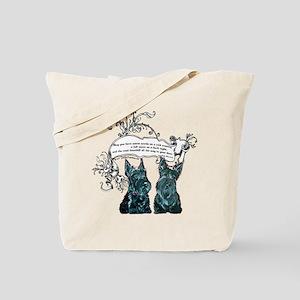 Scottish Terrier Proverb Tote Bag