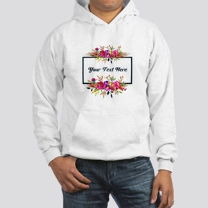 Watercolor Floral Wreath Personalized Sweatshirt