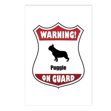 Puggle On Guard Postcards (Package of 8)
