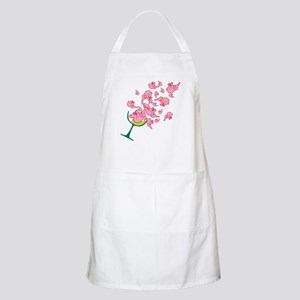 Glass of Pink Elephants BBQ Apron