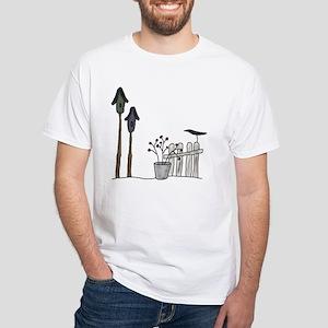 Birdhouses White T-Shirt