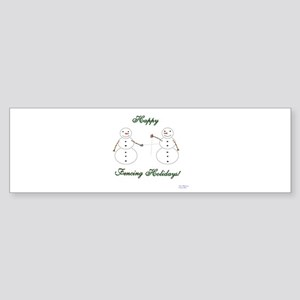 Fencing Holiday Bumper Sticker