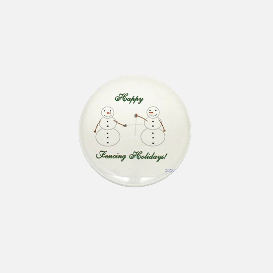 Fencing Holiday Mini Button