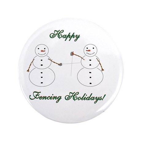 "Fencing Holiday 3.5"" Button (100 pack)"