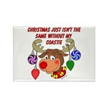 Christmas without my Coastie Rectangle Magnet