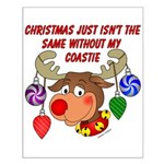 Christmas without my Coastie Small Poster