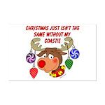 Christmas without my Coastie Mini Poster Print