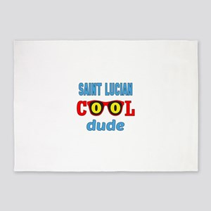 Saint Lucian Cool Dude 5'x7'Area Rug