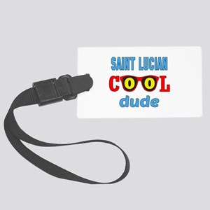 Saint Lucian Cool Dude Large Luggage Tag