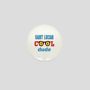Saint Lucian Cool Dude Mini Button