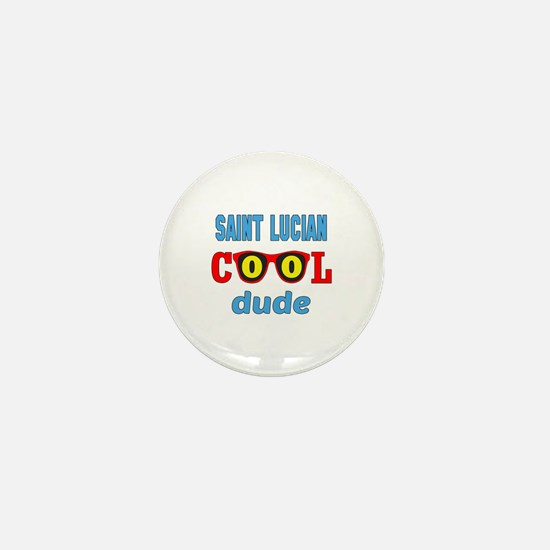 Saint Lucian Cool Dude Mini Button